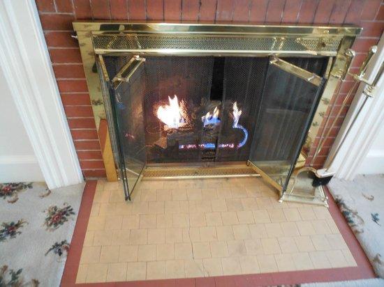 Kennebunkport Inn: Fireplace in Room