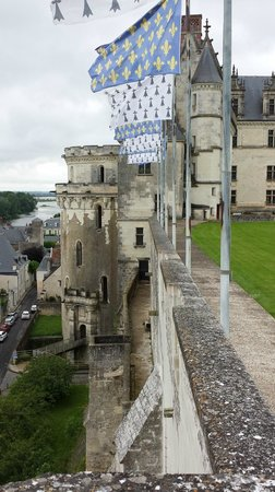 Chateau d'Amboise: The Castle Wall overlooking the Loire River