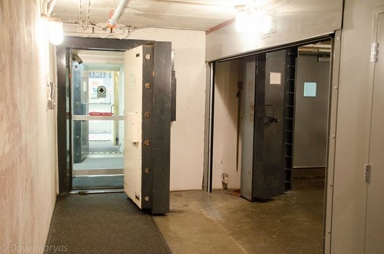The main entry and the blast-proof doors - Picture of