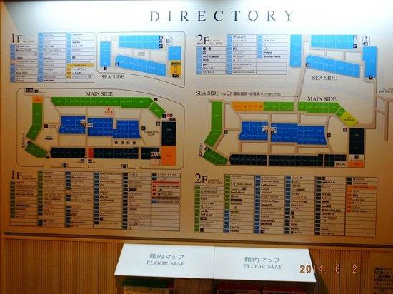 Kansai Airport Washington Hotel: Map Layout of Premium Outlets