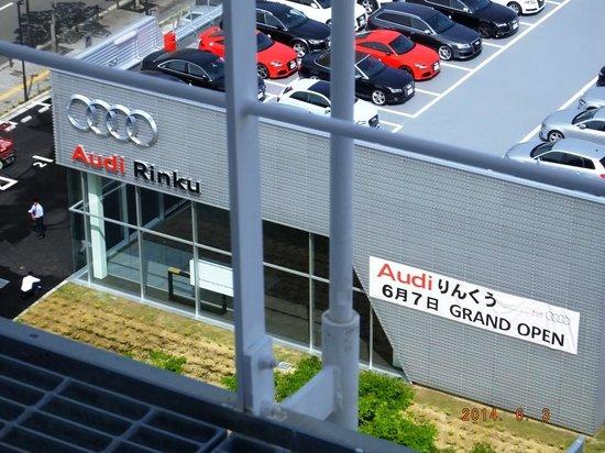 Kansai Airport Washington Hotel: New Audi showroom (opened 7-Jun-14) opposite hotel
