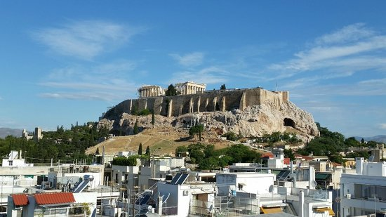 The Athens Gate Hotel: View from rooftop bar