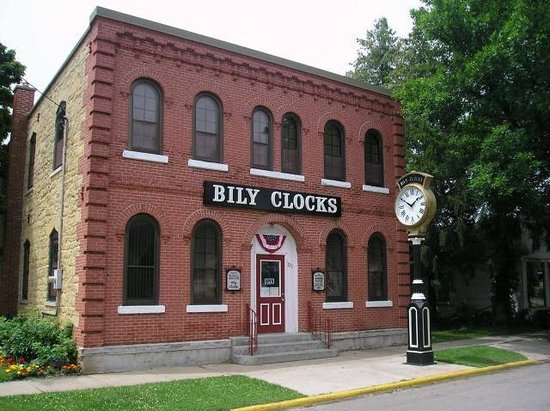 Spillville, IA: The Bily Brothers moved their clock collection from their farm shed, where the collection was sh