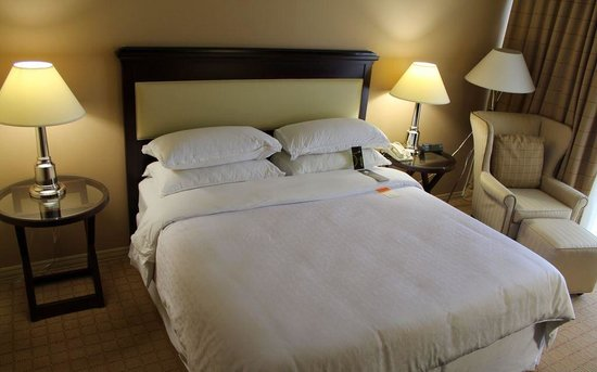 Sheraton Chapel Hill Hotel: Gigantic King Bed