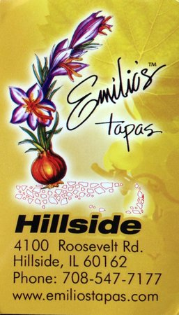 Emilio's Tapas Bar : Card