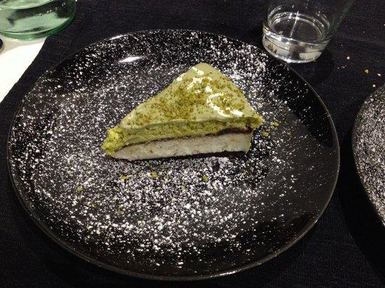 Carpi, Italien: Torta al pistacchio.