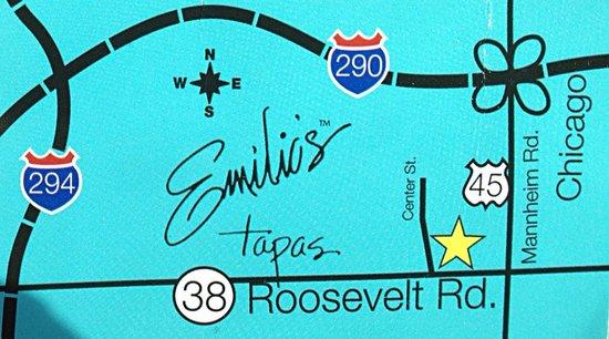 Emilio's Tapas Bar : Map
