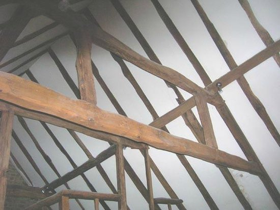 The Church House: Original oak timber roof