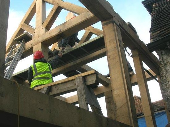 The Church House: New timbr frame