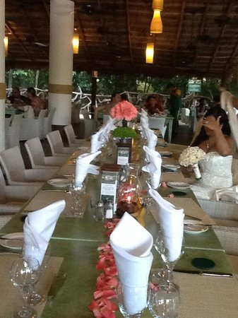 Sandos Caracol Eco Resort : Dinner at the brazilian restaurant after the ceremony