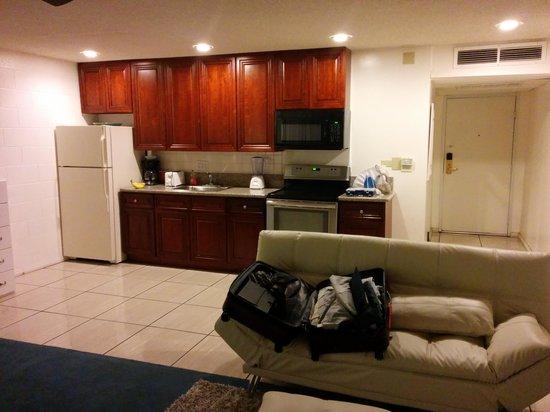 International Hotel & Suites: interior showing kitchen