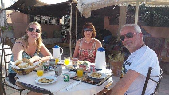Riad Dubai: Ontbijt op het dakterras