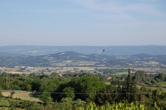 Les Terrasses du Luberon: View from our patio area!