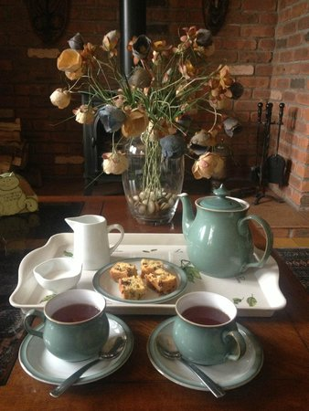 Mountain View Bed & Breakfast: Tea and cakes after returning from our hike