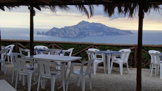 Gocce di Capri Restaurant: Capri Island view