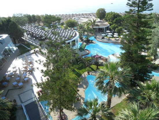 Hotel Calypso : vue de notre chambre au 4 ème étage