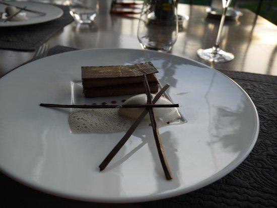 Hotel Les Glycines: millefeuille chocolat glace à la truffe...Hum!!