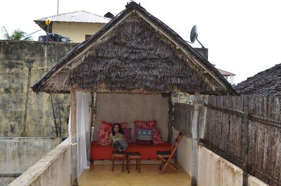 Lamu House Hotel: Terraza privada de la habitación