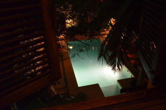 Lamu House Hotel : Vista de la piscina desde la habitación