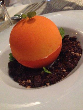 Nunu Restaurant: Esencia de naranja de Soller. Genial.