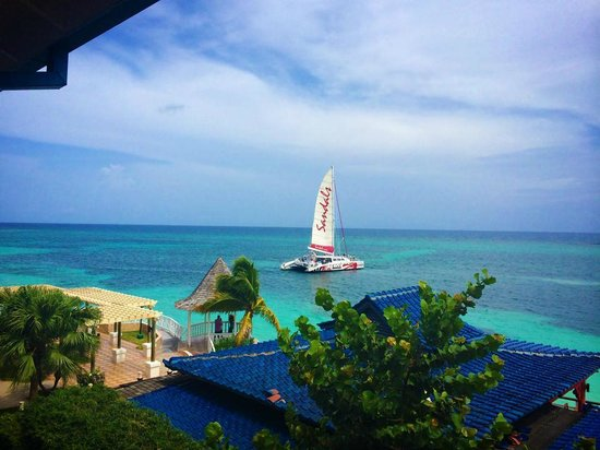 Sandals Montego Bay: view from room of red dread