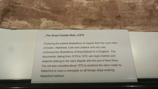 Waterford Treasures Medieval Museum: Great Charter Roll