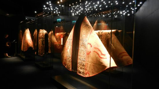 Waterford Treasures Medieval Museum: 15th century cloth of gold vestmenrts