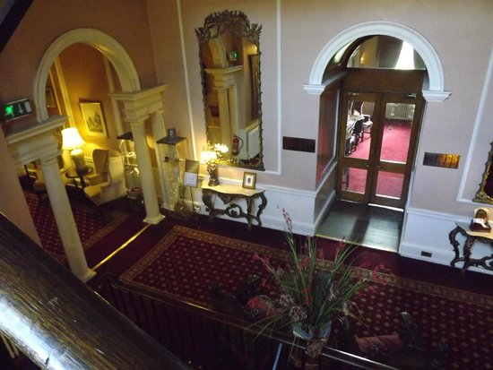 Lumley Castle Hotel: A view while walking down the grand staircase within the castle