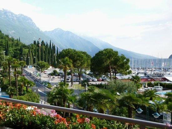 Hotel Riviera: View from room to Monte Baldo