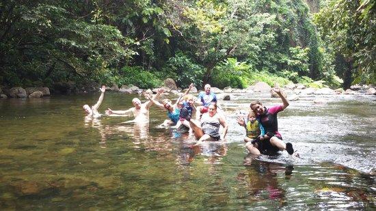 Mermaid's Secret - Riverside Retreat: Having a blast at Mermaid Pool in the river.