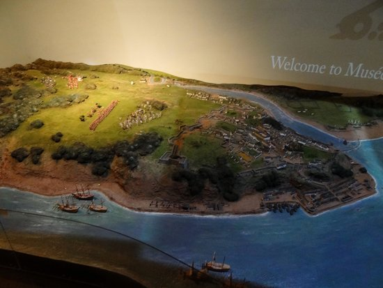Musee du Fort: Model showing attacking forces