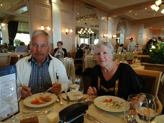 BEATUS Wellness- & Spa-Hotel : VIEW INSIDE RESTAURANT OF HOTEL BEATUS MERLIGEN, MAY 2014.