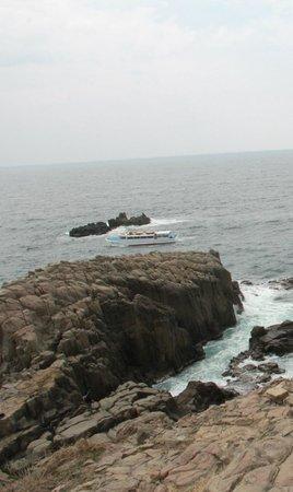 Tojinbo Cliff : Boat