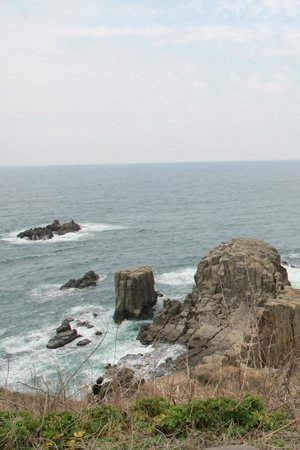 Tojinbo Cliff : Cliffs and sea