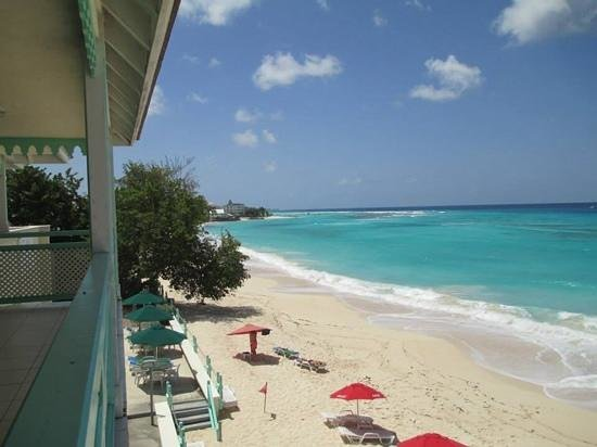 Coral Mist Beach Hotel: View from the balcony, Penthouse