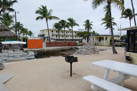 Harbor Lights Motel: Looking back at property