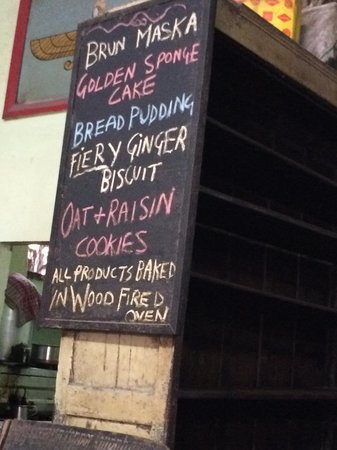 Yazdani Bakery: menu board