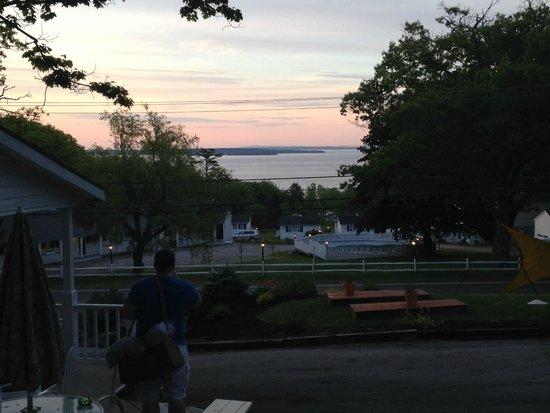 Sunrise from Mount Battie Motel.