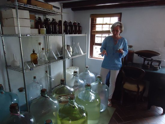 The Bermuda Perfumery: owner giving tour