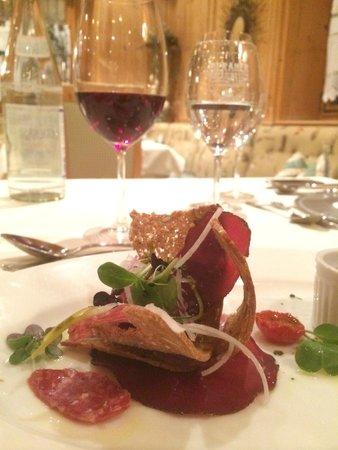 Quellenhof Sport & Wellness Resort: perfektes Dinner!