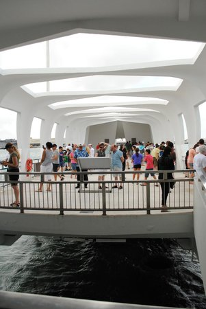 USS Arizona Memorial/WW II Valor in the Pacific National Monument : USS Arizona Memorial- View of the main Hall