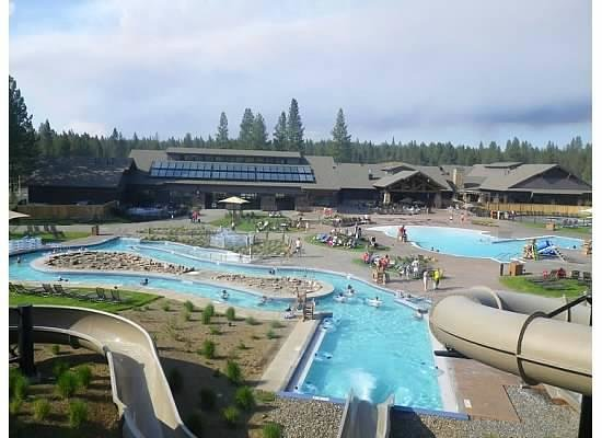 Sunriver Homeowners Aquatic & Recreation Center: view from top of the slide