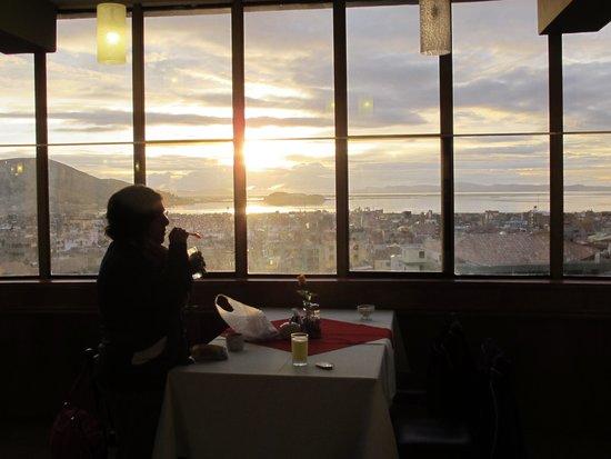 Hotel Qalasaya: Amanecer visto desde el comedor.