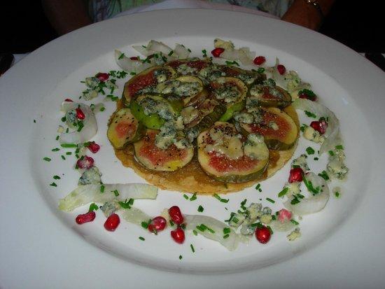 Brasserie Blanc : Fig & blue cheese onion tart