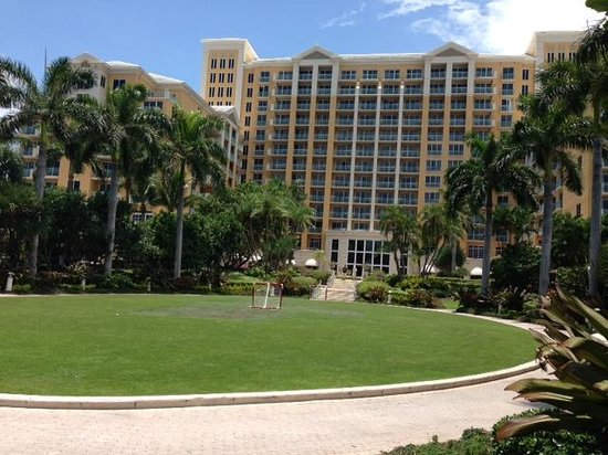 The Ritz-Carlton Key Biscayne, Miami: Looking at the rear of the RC from the beach