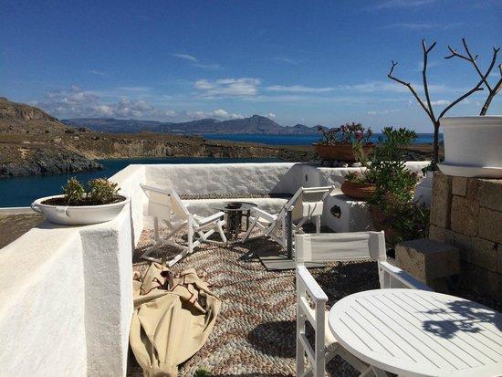 Melenos Lindos Hotel: our room's balcony