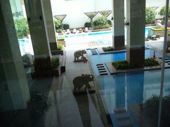 Jaipur Marriott Hotel: pool side area