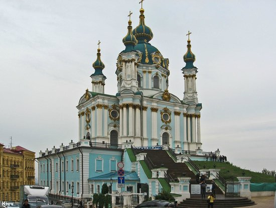 Andriyivski Uzviz: Киев. Андреевская церковь