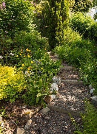 Ellangowan House: Garden paths