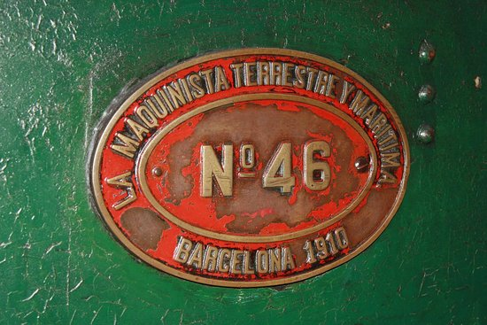 Museo del ferrocarril - Gijón - Placa de tren